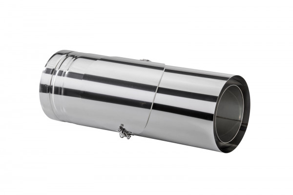 Schornsteinrohr Edelstahl 540 mm doppelwandig mit Prüföffnung - eka cosmos D 25