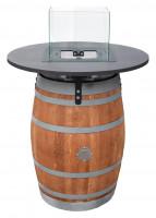 Pellet-Feuerfass Pelmondo FIRE BARREL inkl. Tisch & Windschutzglas - SM44400011