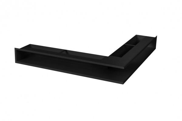 Eck-Luftleiste für Heizeinsätze kurzer Schenkel links schwarz