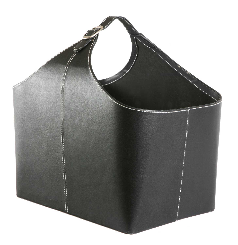 holzkorb leder anthrazit orskov 98 231 g nstig kaufen cafiro. Black Bedroom Furniture Sets. Home Design Ideas