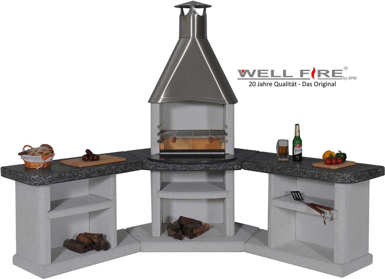 Outdoor Küche Holzkohle : Outdoorküche grillkamin wellfire ardea kaufen cafiro
