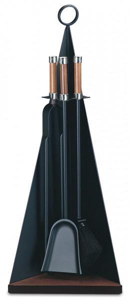 Kaminbesteck Lienbacher aus Stahl, 3- teilig, schwarz beschichtet