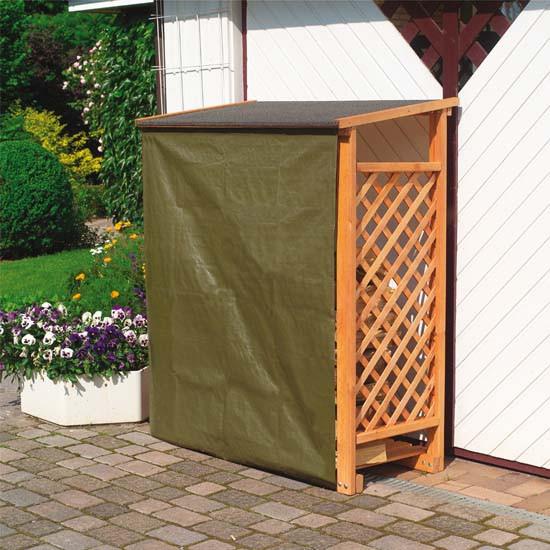 Wetterschutz für Brennholzregal