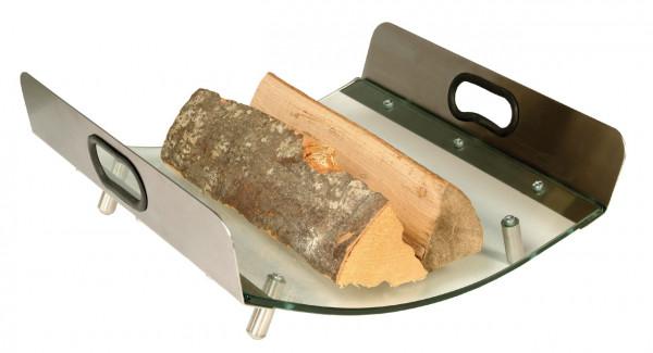 Holzkorb Lienbacher aus Glas mit Edelstahlfüßen