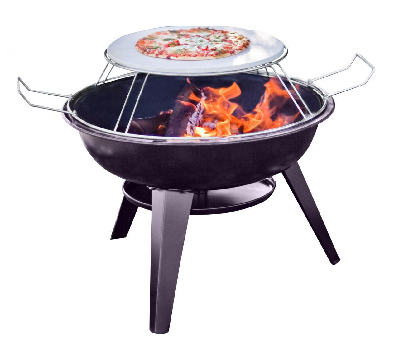 Buschbeck Feuerschale ITALIA mit Pizzastein Aufsatz