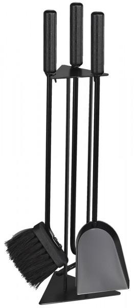 Kaminbesteck TRIGO-1 aus Stahl, 3- teilig, schwarz