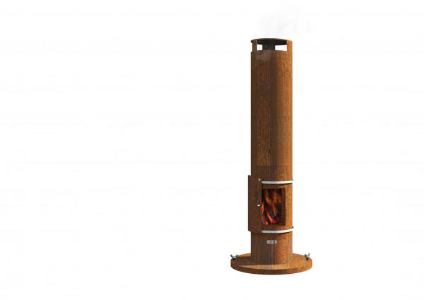 Feuersäule Stahl Rost Tower Feuercampus365 Kaufen Cafiro