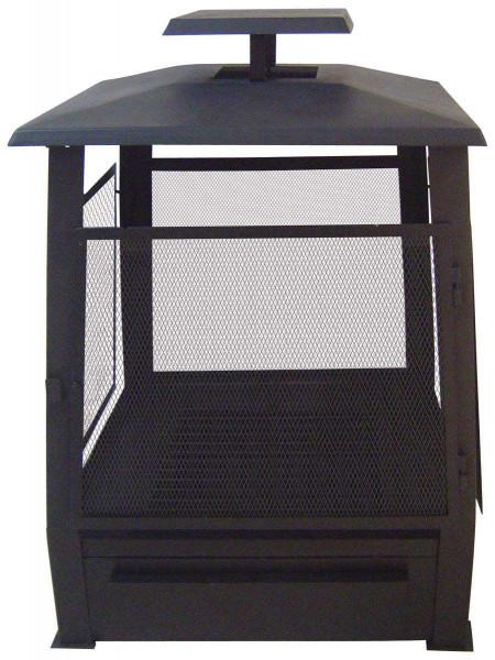 Terrassenofen Pagode, Stahlblech, schwarz