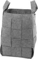 Holzkorb aus grauem Filz, Flechtoptik, 46 x 30 x 30 cm - SM3545-56