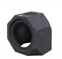Keramik Modul Speicher 240 Bogen 90° Bohrung oben 240 mm x 240 mm x 240 mm, Ø 160 - SM1602021