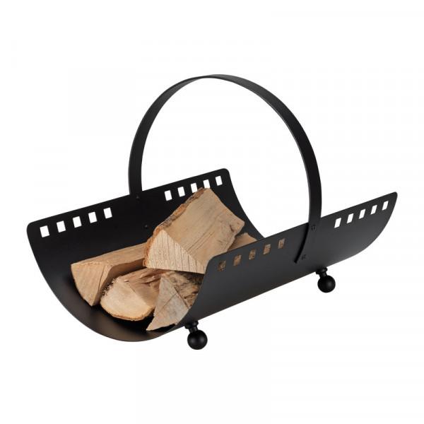 Holzliege SQUARE aus Eisen, mit Tragegriff