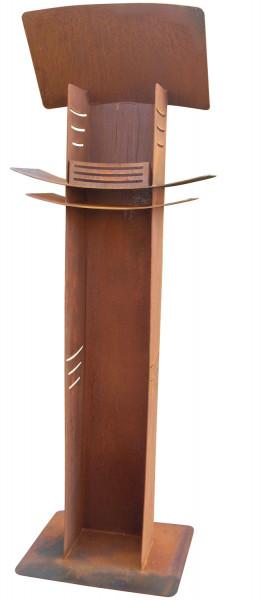 Nielsen Feuersäule LIGHT TOWER aus Cortenstahl