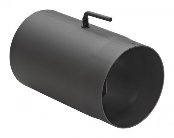 Rauchrohr Stahl 250 mm schwarz mit Drosselklappe