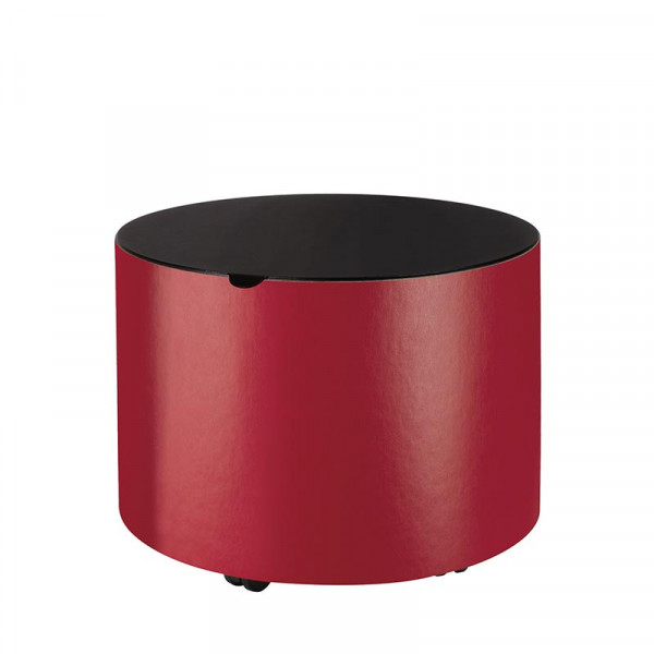 Holzkorb Leder MAMBO, rot