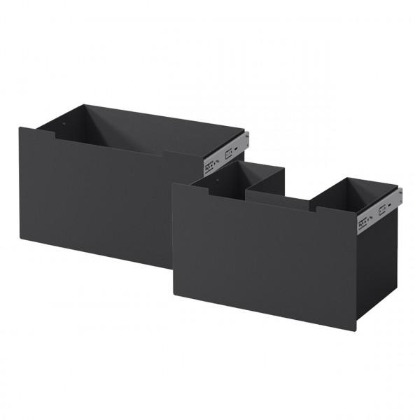 Schubladenset Nordpeis ME Bank Stahl schwarz