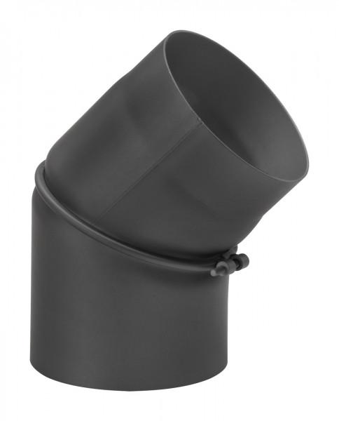 Rauchrohrbogen Stahl verstellbar 0-45° schwarz