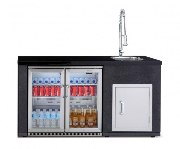 Outdoorküche Mit Kühlschrank Kaufen : Outdoorküche spülmodul artisan beefeater kühlschrank kaufen cafiro