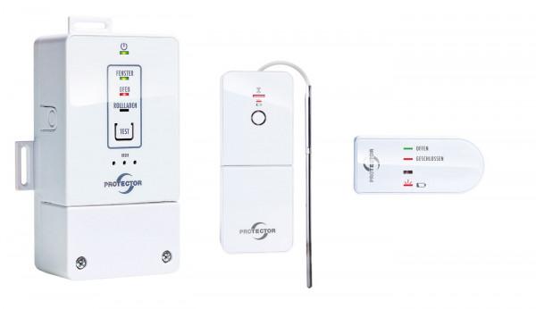 Funk-Fensterkontaktschalter AS-8230 COMFORT Lichtkennung - Einbauvariante