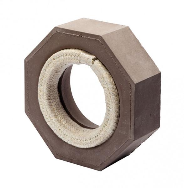 Keramik Modul Speicher 240 Anschlussstück für Eisenrohr Ø 160 mm 240 x 240 x 80 mm