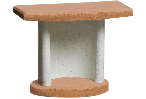 Beistelltisch GEORGIA für Buschbeck Grillkamine, terracotta-grau
