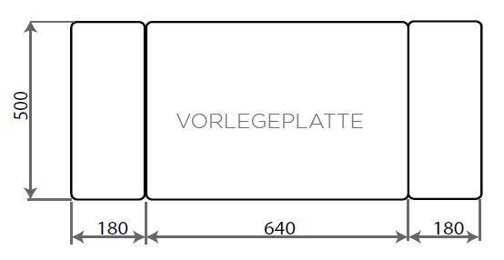 Vorlegeplatte ESG Klarglas Nordpeis Speicherofen Salzburg M