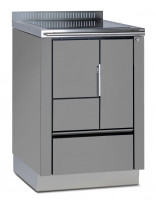 Holzherd Greithwald TRA 60 emailliert grau, 6 kW - SMTR_A60EG