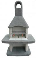 Grillkamin Wellfire SIESTA schwarz-weiß mit Betonhaube - SMN01541860