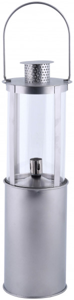 Öllampe Gartenlampe Stahl, 46,4 x Ø 14,1 cm