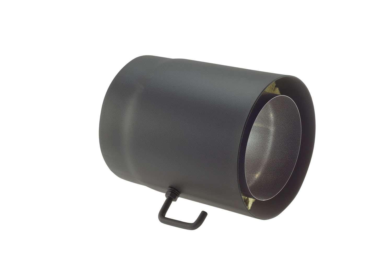 Ofenrohr Senotherm gussgrau mit Drosselklappe Ø 150 mm Länge 250 mm