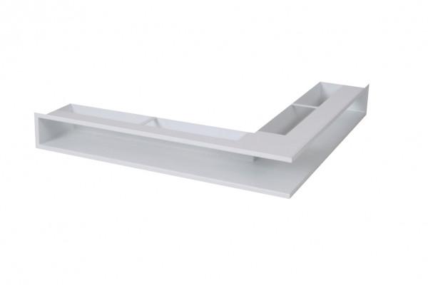 Eck-Luftleiste für Heizeinsätze kurzer Schenkel links weiß