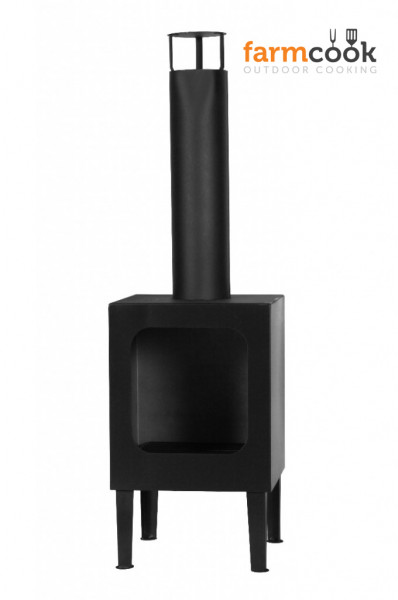 Terrassenofen Stahl COLORADO, schwarz