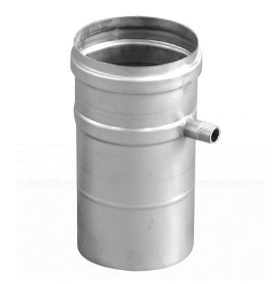 Schornsteinrohr Edelstahl 250 mm einwandig Ablauf waagerecht - eka complex E