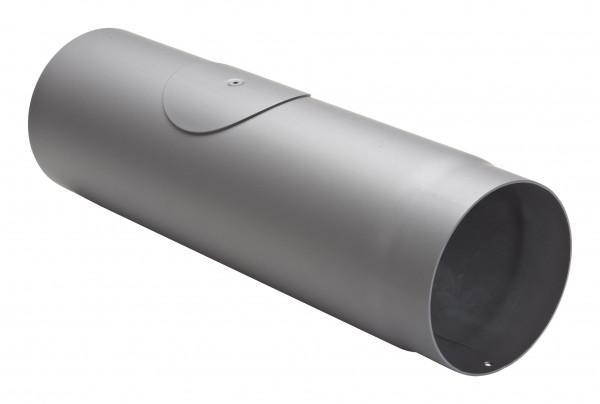Rauchrohr Stahl 500 mm Ø 150 mm hellgrau mit Tür