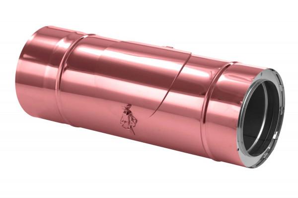 Schornsteinrohr 540 mm doppelwandig mit Prüföffnung verkupfert - eka complex D 25
