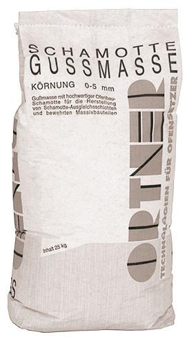 Schamotte Gussmasse, 20 kg Sack