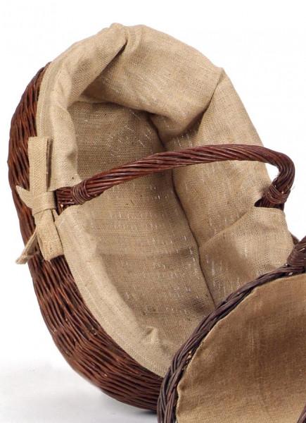 Holzkorb aus geflochtener Weide, oval
