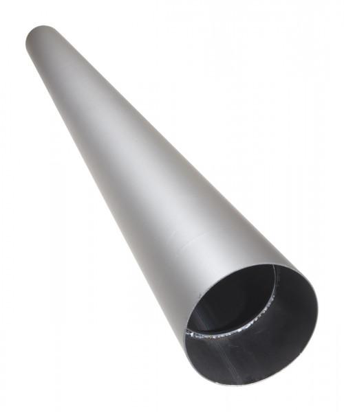 Rauchrohr Stahl 2000 mm Ø 150 mm hellgrau ohne Verjüngung mit Kondensring