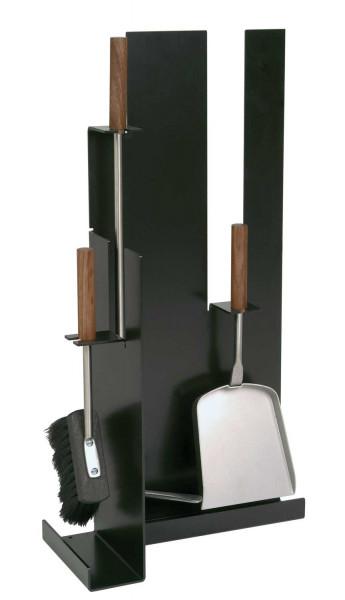 Kaminbesteck Edelstahl 3- teilig, schwarz beschichtet