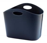 Holzkorb Leder, schwarz, 35 x 44 x 30 cm - SM50027557