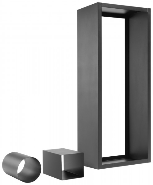Holzregal Stahl schwarz Oranier 170 x 60 x 35 cm