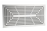 Design Lüftungsgitter 45 x 23 cm mit Einbaurahmen Edelstahl matt - schwarz - SMWG4523pb1ess