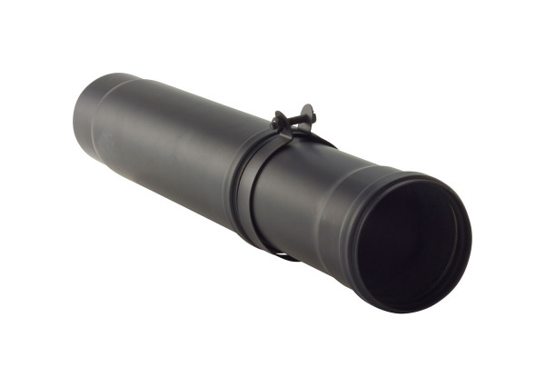 Teleskop-Pellet-Ofenrohr Stahl 500-800 mm schwarz
