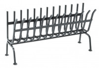 Holzkorb mit Füßen, 56 x 19 x 29 cm, schwarz - SM40140154