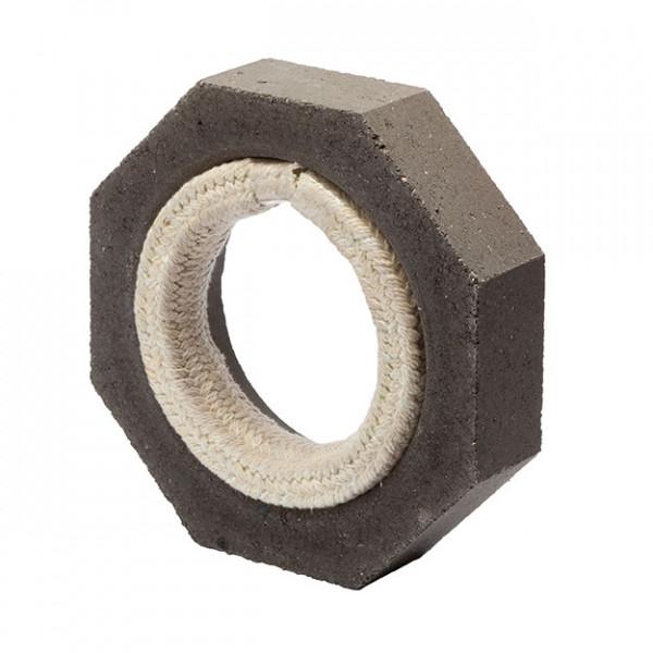 Keramik Modul Speicher 300 Anschlussstück auf Eisenrohr 300 x 300 x 70 mm, Ø 180 mm