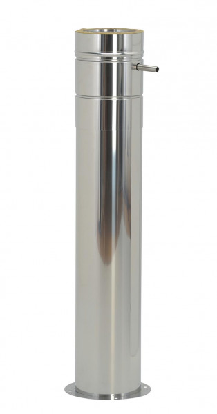 Konsolplatte mit Ablauf Edelstahl doppelwandig Sockel rund - eka chromos D 25