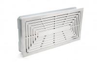 Design Lüftungsgitter 45 x 23 cm mit Einbaurahmen weiß-weiß - SMWG4523pb1ww