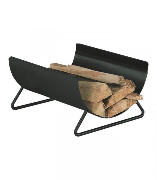 Holzlege Stahl schwarz Heibi, 46 x 37,5 x 23 cm
