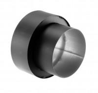 Anschlussstück Wandfutter Rauchrohr Stahl doppelwandig 150 mm Ø 150 mm schwarz - SM07-518