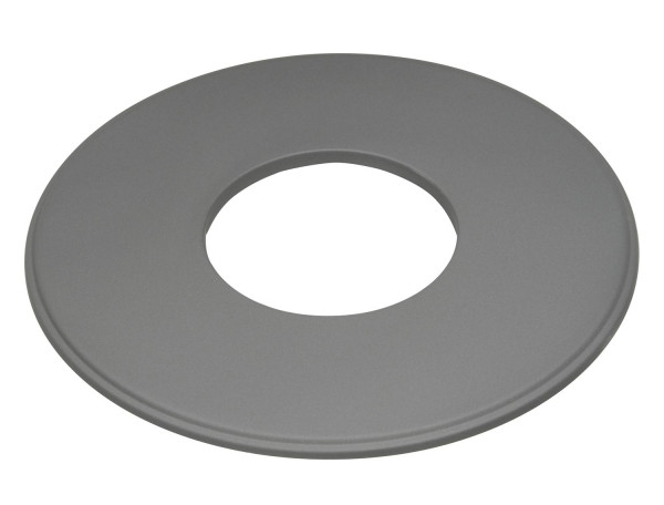 Wandrosette Stahl Randbreite 90 mm hellgrau