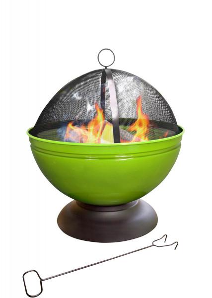 Feuerschale GLOBE, emailliert mit Grillrost